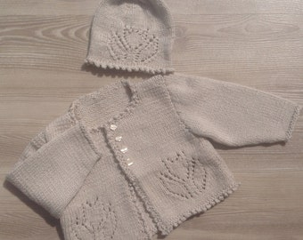 Sweater, Newborn Sweater with hat, Baby Sweater Sized newborn- 3 months, READY TO SHIP