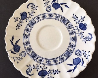 Vintage (c.1960s) J&G Meakin Blue Nordic blue-and-white, Delft-inspired orphan saucer.  Desperately seeking tea cup mate!