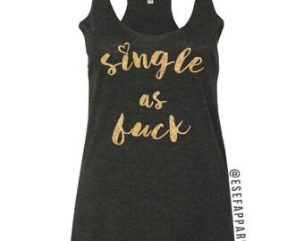 Single as Valentines Ladies Tank Top