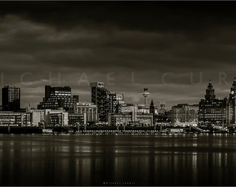 Liverpool waterfront image on large canvas. Limited edition.