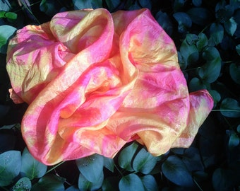 Hand Dyed Play Silk - Fall Play Silk - Fall Foliage Colors