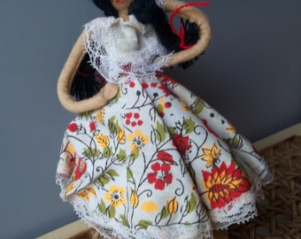 Folk Art Posing Hand Made Souvenir Doll Venezuela - FREE SHIPPING