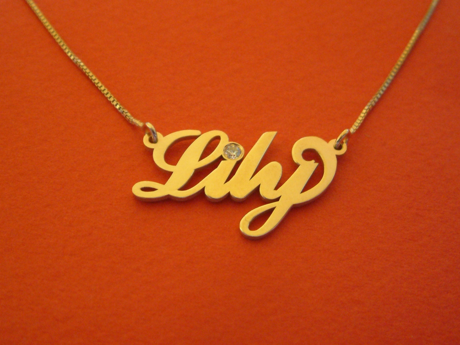 birthstone name necklace gold name necklace birthstone