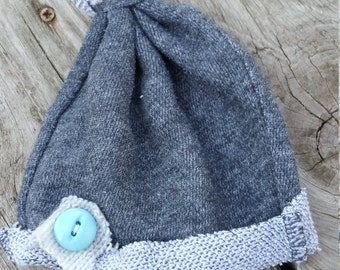 UPCYCLED Newborn Baby Cap / Photo Session Prop