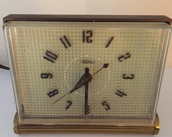 Shipping Included -1950s Telechron Electric Alarm Clock Model 7H179- Shipping Included