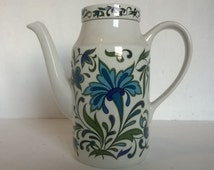Retro mod coffee pot, Midwinter Spanish Garden, Jessie Tait