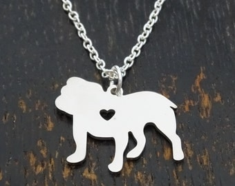 Bulldog Necklace, Bulldog Charm, Bulldog Pendant, Bulldog Jewelry, English Bulldog Necklace, English Bulldog Jewelry, Bulldog Lover