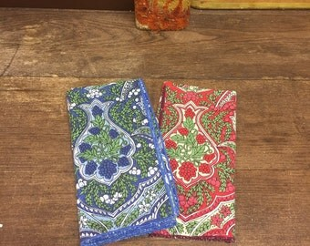 Paisly Vintage Handkerchief Set of 2 FREE SHIPPING