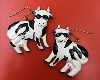 CHILL COW Vintage Earrings
