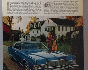 1973 Model Ford Mercury Marquis Brougham Print Ad