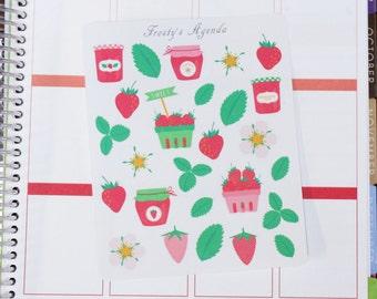 Strawberry Pickings Decor Stickers