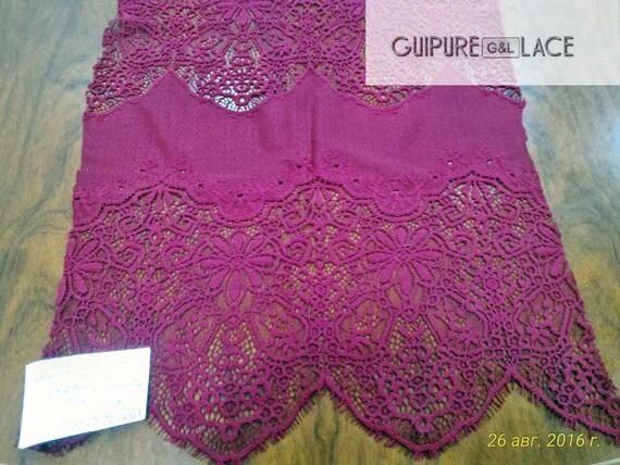 Bordeaux lace fabric, French lace, embroidered lace, wedding lace, lace suite, veil lace, lingerie lace Chantilly Lace