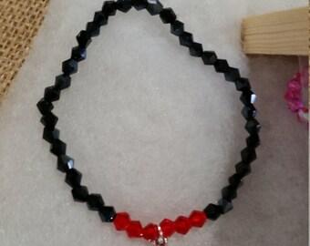 Vampire fangs bracelet