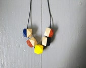Geometric Necklace - Blue...