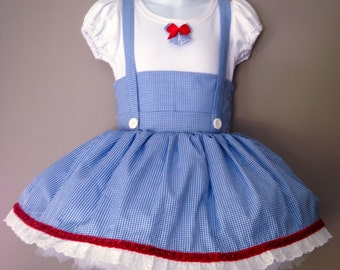 Dorothy Costume, Dorothy Costume Dress, Wizard of Oz, Toddler dance costume, Dorothy's dress, Girls Dorothy dress, Dance costumes,