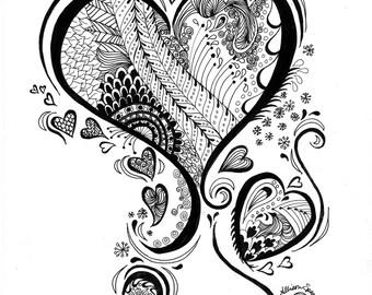 Zen Heart Print