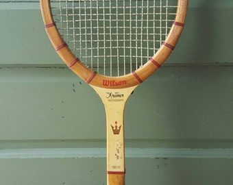 Vintage Wood Tennis Racket Racquet - Wilson, The Jack Kramer Autograph 4.5 grip