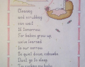 Babies Don't Keep Counted Cross Stitch