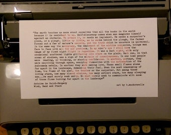 Typed quote by Antoine de Saint-Exupéry, author of The Little Prince