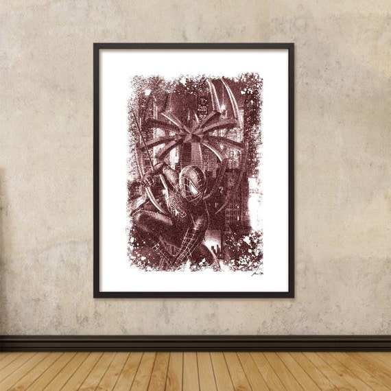 Spiderman Printable Modern Graphic Design Wall Art Home Decor