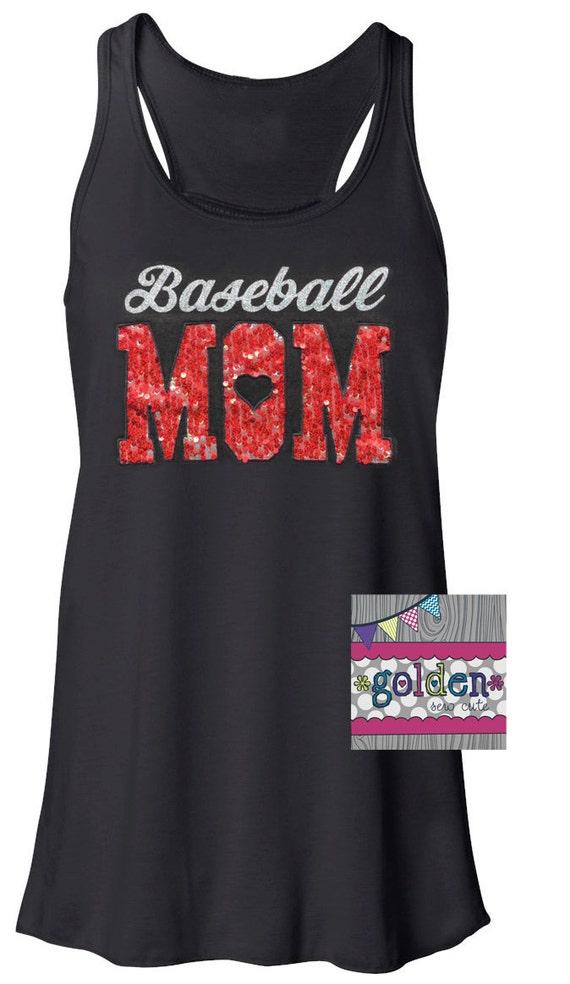 Personalized Team Mom TANK Sleeveless Top, Baseball, Basketball, Football, Hockey, Band, Softball, Cheer, PTA Mom Jersey, Sequin