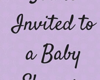 Baby Shower Invites (pack of 8)