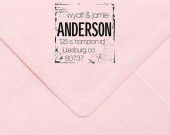 Custom Return Address Stamp, Wedding Address Stamp, Change of Address Stamp, Modern Address Stamp, Wedding Shower Gift, Teacher Gift  449