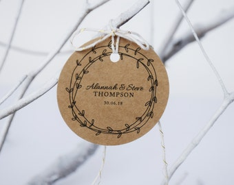 Wedding Guest Book Alternative - Rustic Wedding Guestbook Tags / Unique Guest Book Ideas