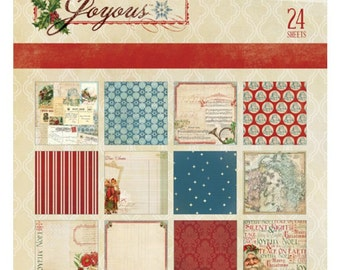 My Mind's Eye Joyous Paper Pad, 6x6 Christmas Scrapbook, 24 Sheets