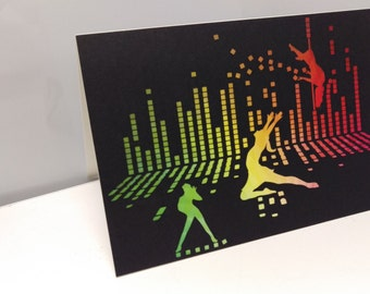 Greeting Card Dancing Disco