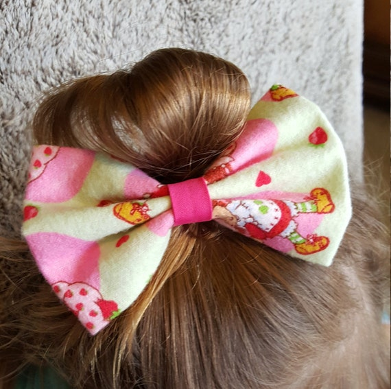 Strawberry Shortcake  Hair bow little girls hair accesories