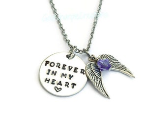 Memorial Necklace, Memorial Jewelry, Loss of a Loved One, Memorial Gift, Keepsake Necklace, Remembrance Necklace, Angel Wing