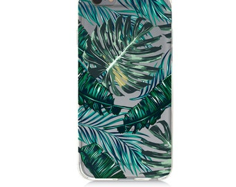 iPhone 7 Clear Case - Leaves - Protective TPU cover for iPhone 7 - 7 plus - iPhone 6s -  6s plus - Samsung Galaxy s5 s6 s7 Note 7