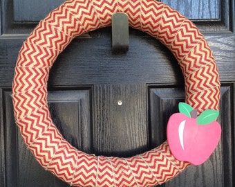 Back to School / Fall Apple Wreath