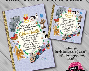Little Golden Books Invitation. Optional Book Instead of Card Insert and/or Thank You Card! Digital File/Printable.