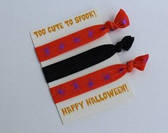 Halloween Favor - Halloween Hair Tie, Party Favor, Halloween Party, Elastic Hair Tie, Creaseless Hair Tie