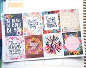 8 Motivational Quotes Volume  6 Full Boxes Planner Stickers  / EC Vertical or Horizontal / Happy Planner Recollections