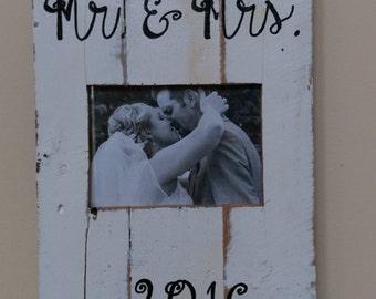 Reclaimed wood Wedding Photo Frame