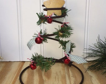Mini Christmas Tree, Rustic Christmas Tree Table Topper, Upcycled Bed Spring Tree, Christmas Decoration