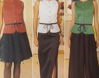 Womans Top, Skirts, Pants Sewing Pattern UNCUT Designer Jessica Howard Butterick 4295 Miss Size 12-16