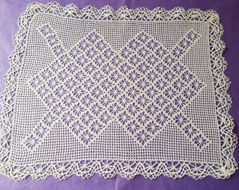 Nice doily handmade crochet and lace ref 12316