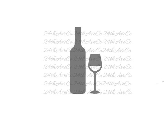 wine dxf svg pdf png cut file digital file silhouette studio cricut alcohol spirits. Black Bedroom Furniture Sets. Home Design Ideas