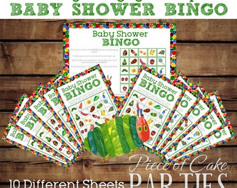 Very Hungry Caterpillar Party Baby Shower Bingo Game Sheets *INSTANT DIGITAL DOWNLOAD*