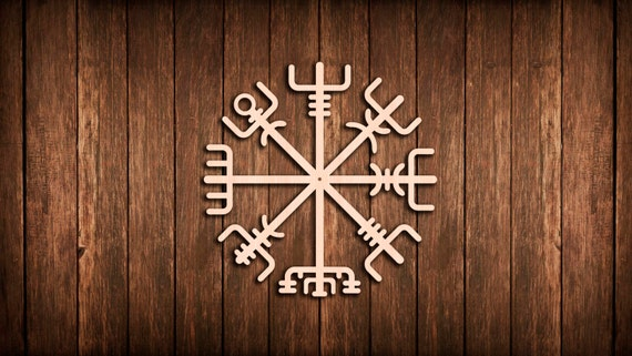 vegvisir viking symbol wand zeichen logo ausschnitt. Black Bedroom Furniture Sets. Home Design Ideas