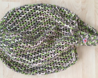 Green Bag, Crocheted Bag, Draw String Bag, Beach Bag, Sports Bag, Baby's Bag, Mother's Day Bag, Tote, Gift For Her, Hand Bag