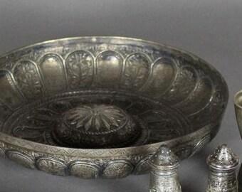 Antique Indian Silver Circular bowl.