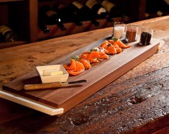 Walnut salmon Board with corian grip
