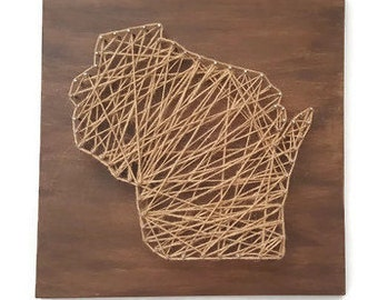 Wisconsin String Art Etsy
