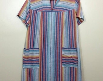 Pastel Striped Housecoat