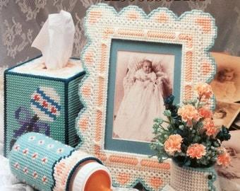 Annie's Attic Plastic Canvas Heirloom Nursery Accessories Pattern by Darla Fanton #87H39